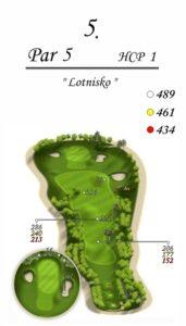 Karolinka Golf Park - dołek 5