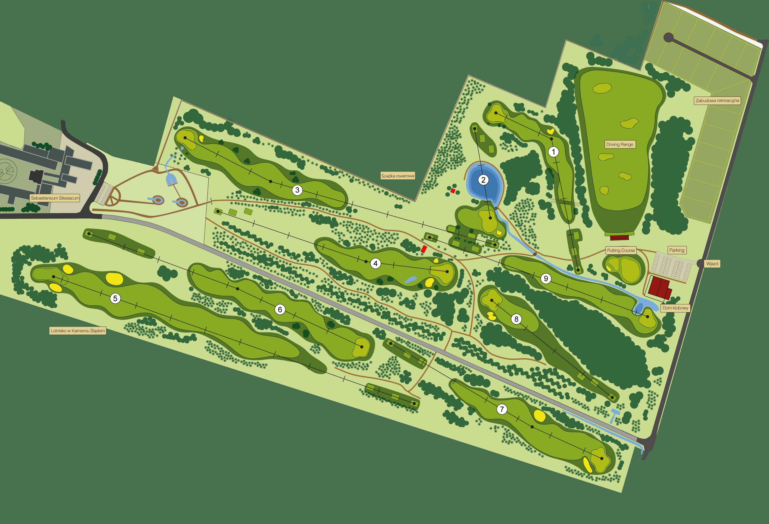 mapa pola golfowego Karolinka