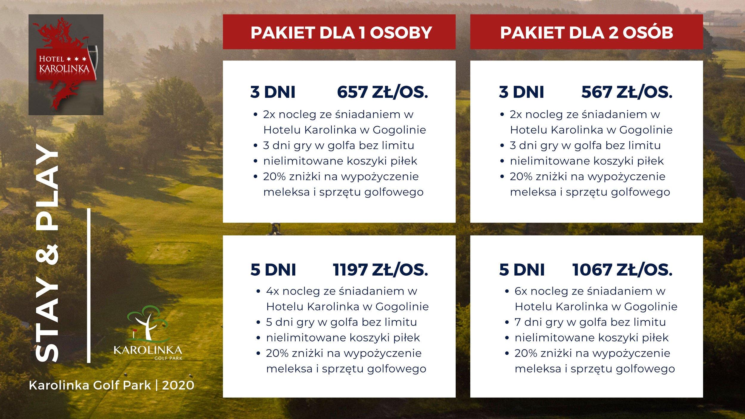 Pobyty golfowe Stay and play hotel Karolinka
