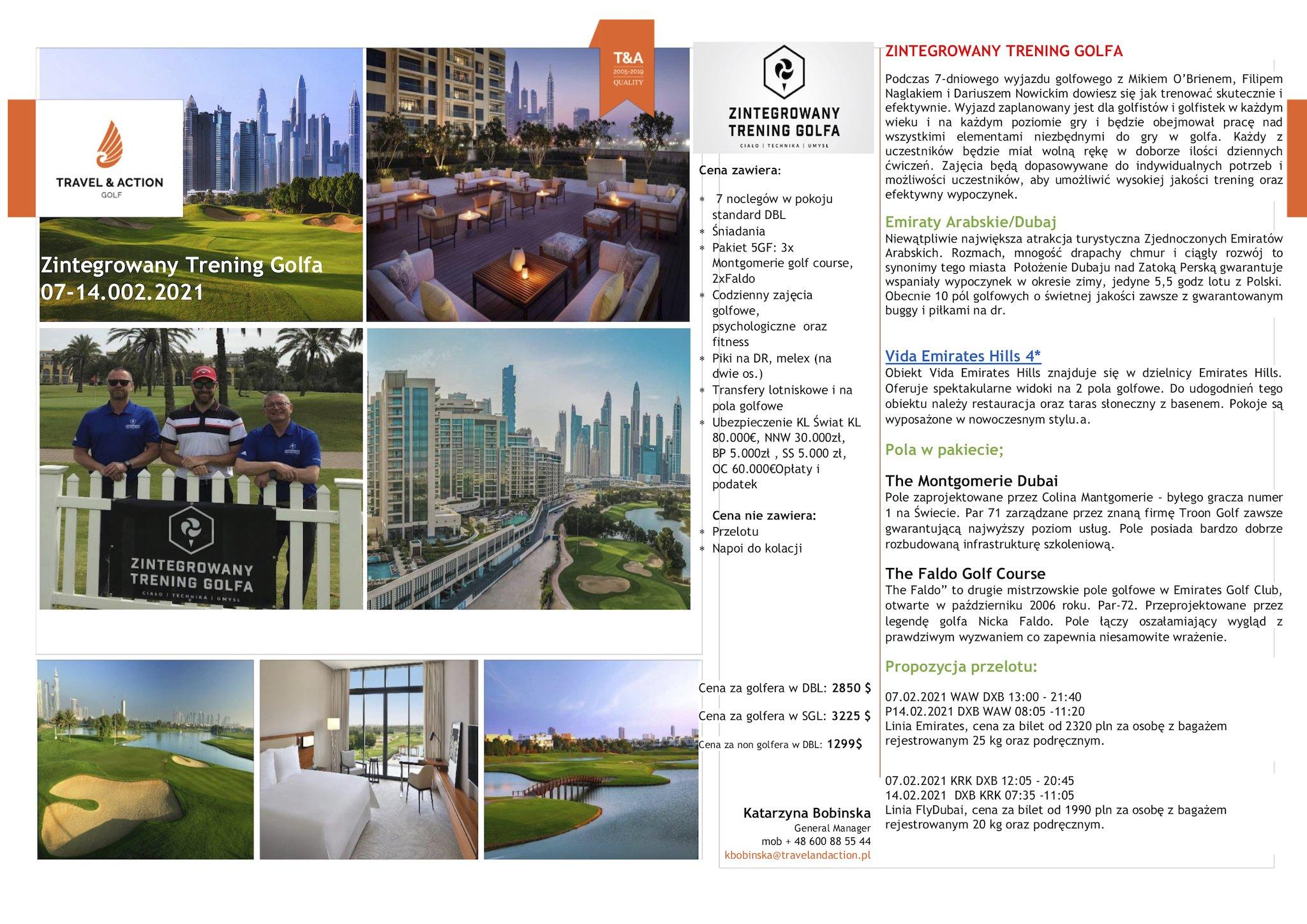 Wyjazd golfowy Dubaj